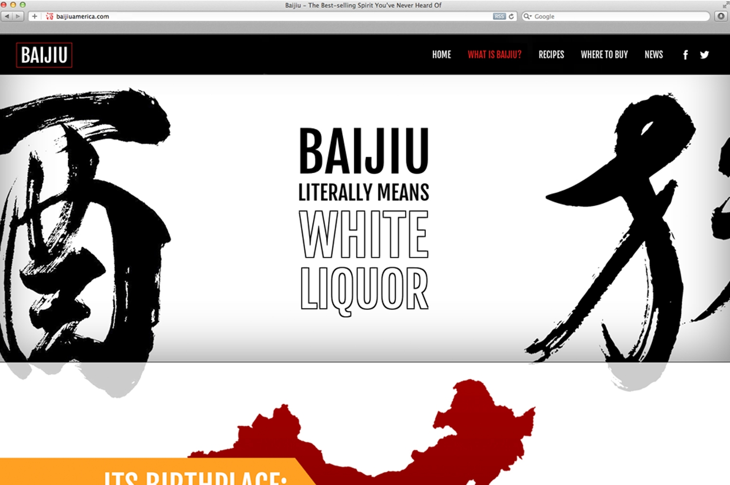 BAIJIU WEBSITE DESIGN