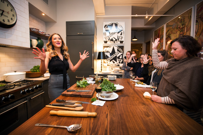 Chef Candice Kumai at Broccoli Rabe Launch