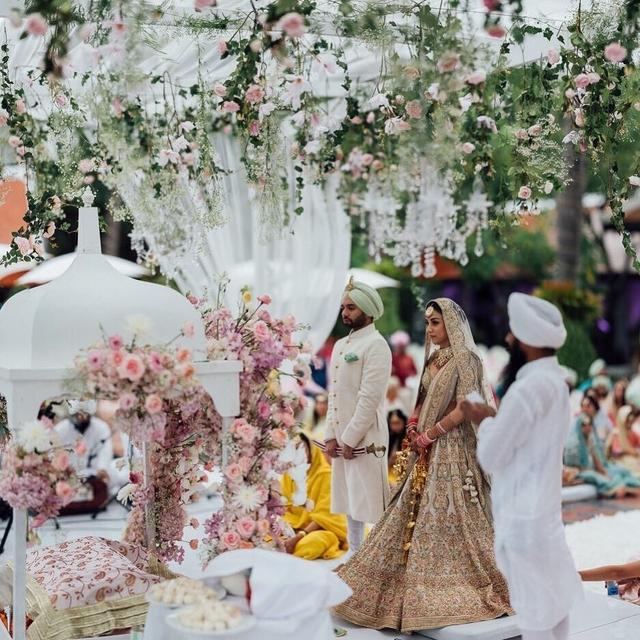 The destination wedding of actress    Amrita Puri    and Imrun Sethi.