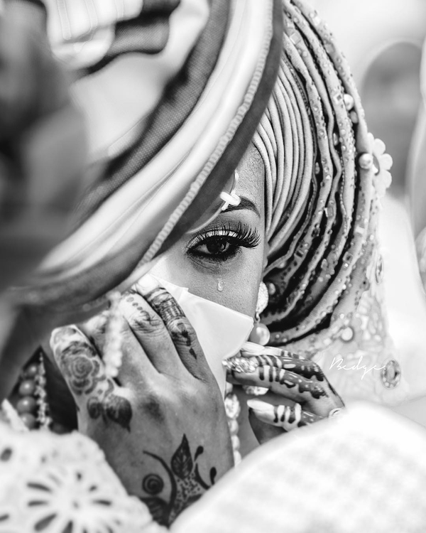 A bride at her wedding in Nigeria.