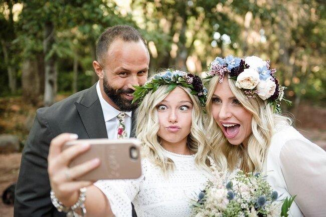 Real wedding photo by Cameron Clark