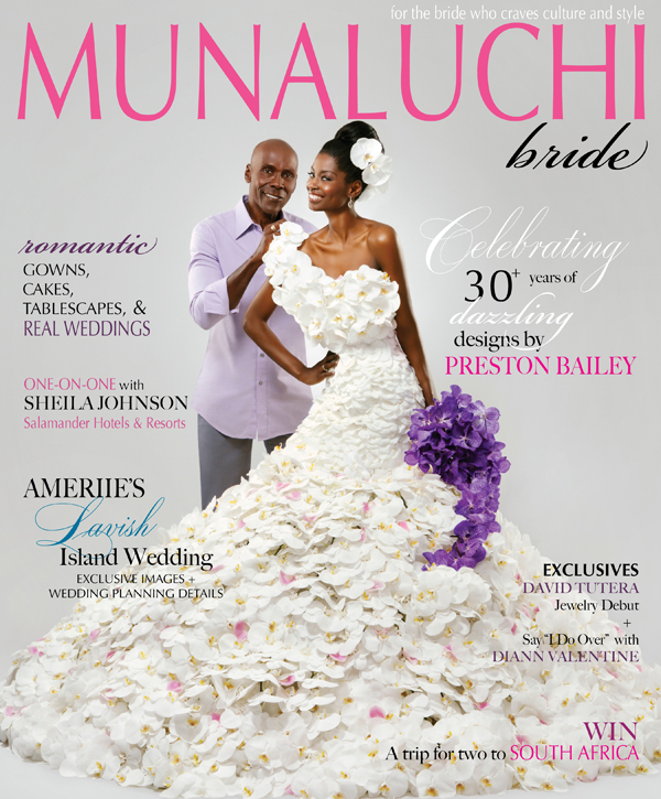 Preston Bailey on the cover of the Fall/Winter 2011 issue of Munaluchi Bride