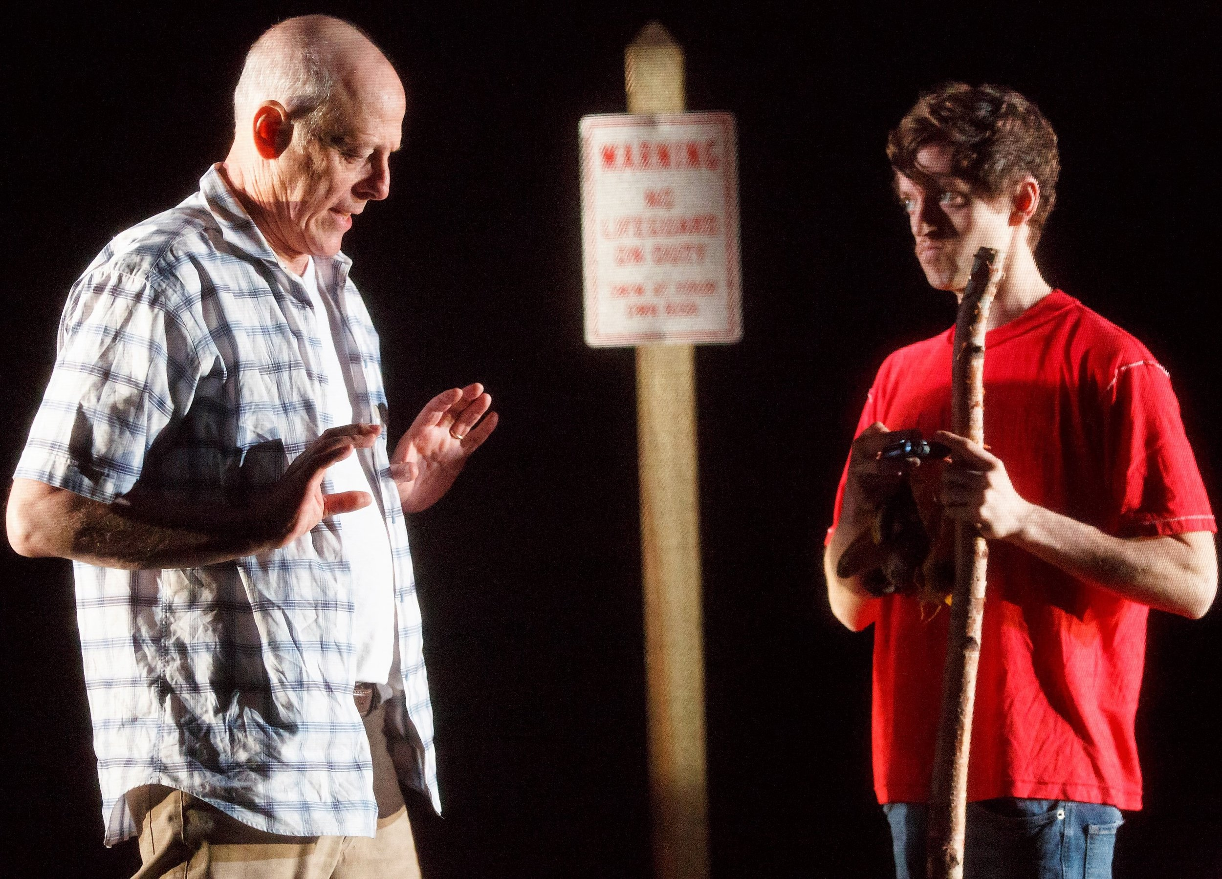 Blum as Pete encounters Ethan Dubin as Tate in the California desert.