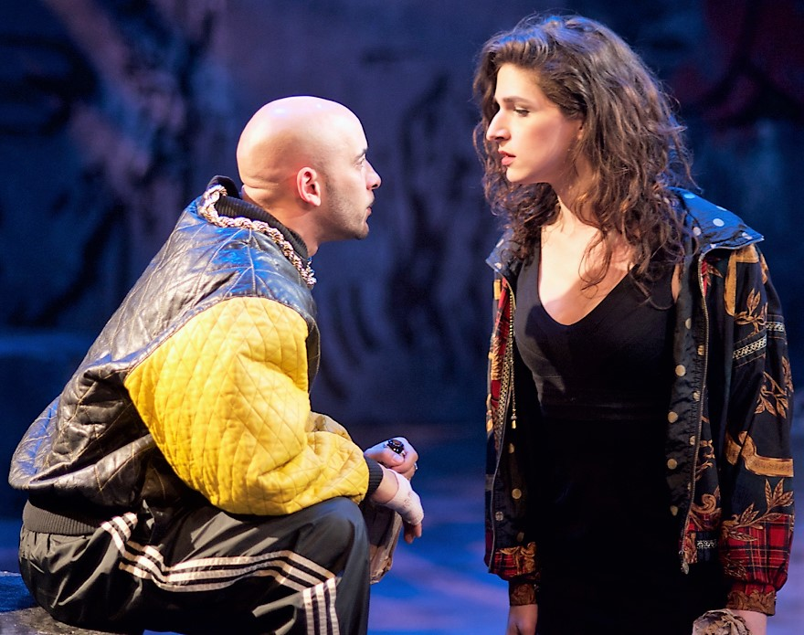 From left: Victor Almanzar is Terrence, and Eve Lindley is Jamie.