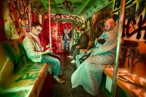 Nightmare New York subway scene