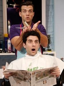 Shear Madness two men haircut scene
