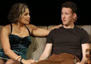 "Ciara Renée plays Susan and Nick Blaemire is Jon in Jonathan Larson's ""Tick, Tick... BOOM!"" Top: Blaemire and Renee with George Salazar as Jon's friend Michael."