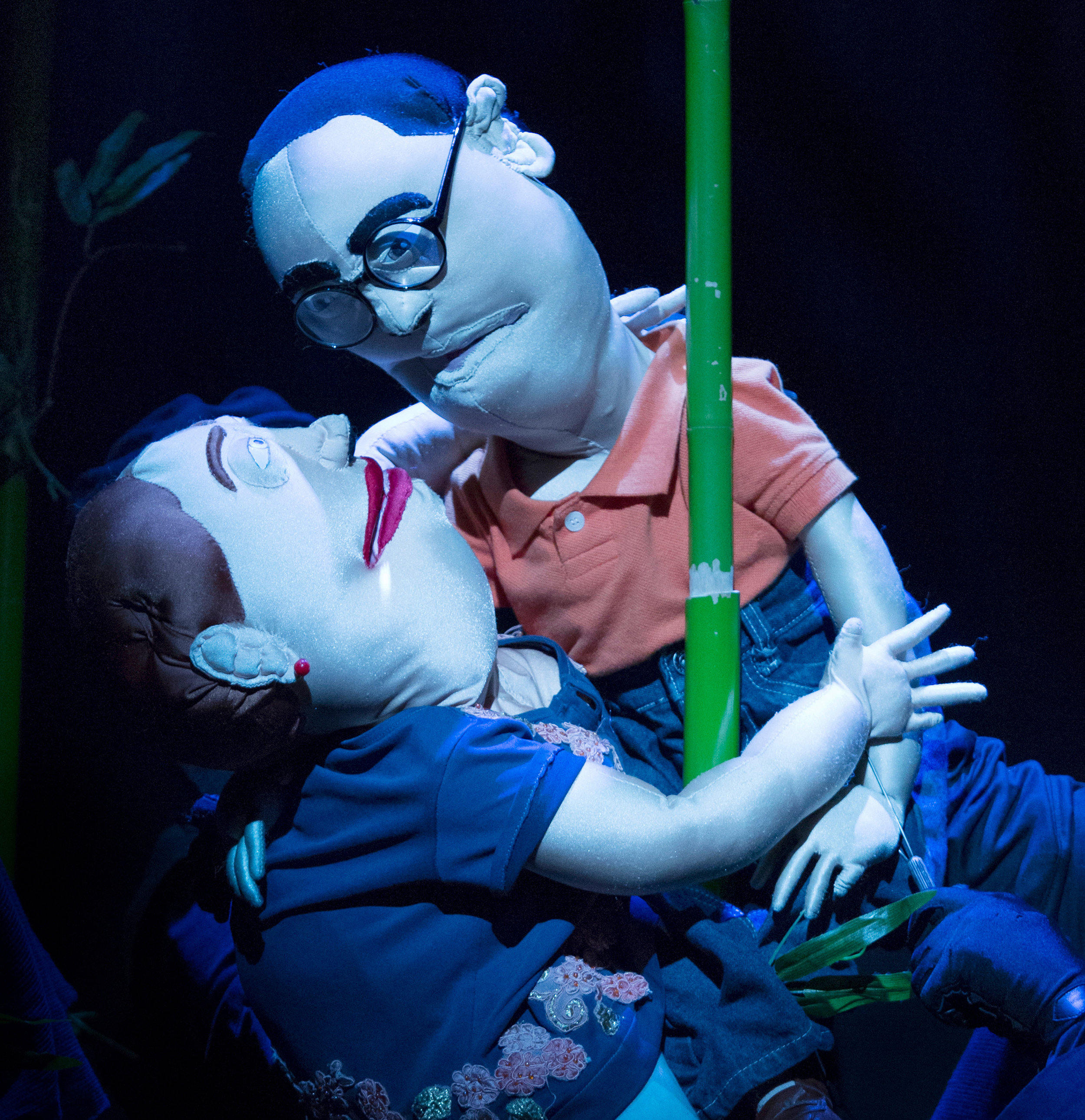 Puppets Mary and Eddie.