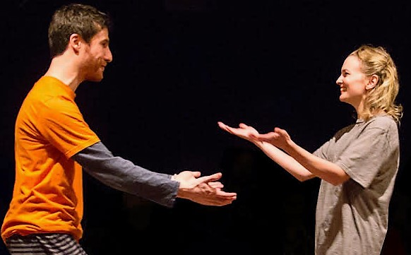 Mehl as Ben with Rachel Mewbron as Donna.Mehl as Ben with Rachel Mewbron as Donna.