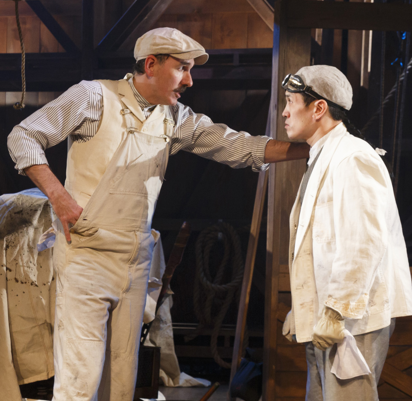 Lochtefeld (left) with Brian Lee Huynh as Hong Sling. Photos by Joan Marcus.