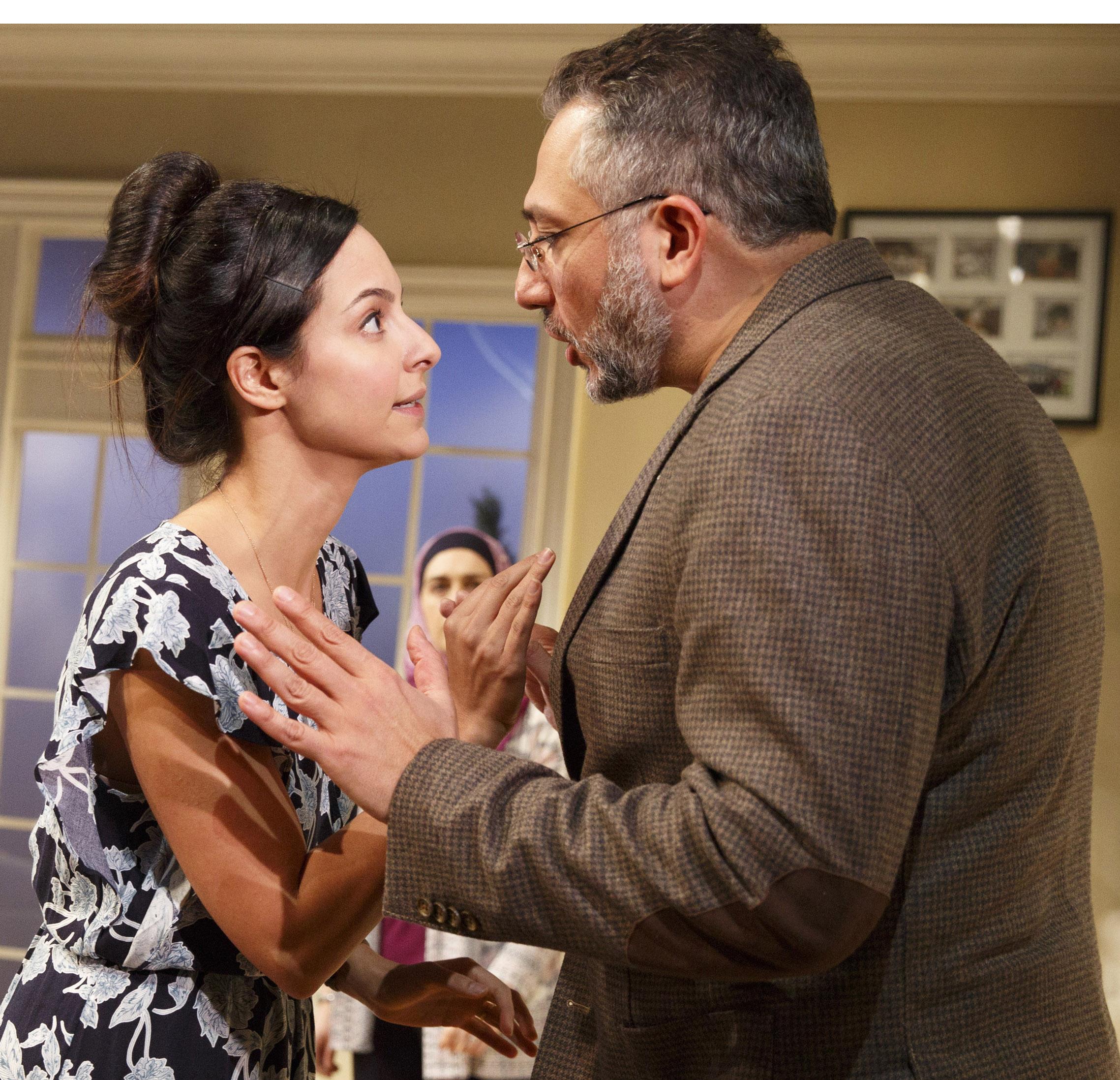 Emina and Raif argue at the Osmans' home. Photographs by Joan Marcus.