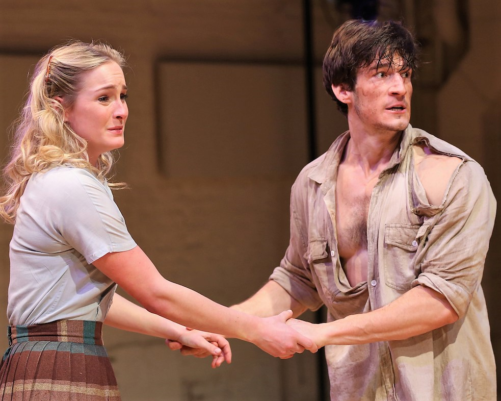 Ginna Le Vine as Madge with Patterson as Hal in  Picnic .