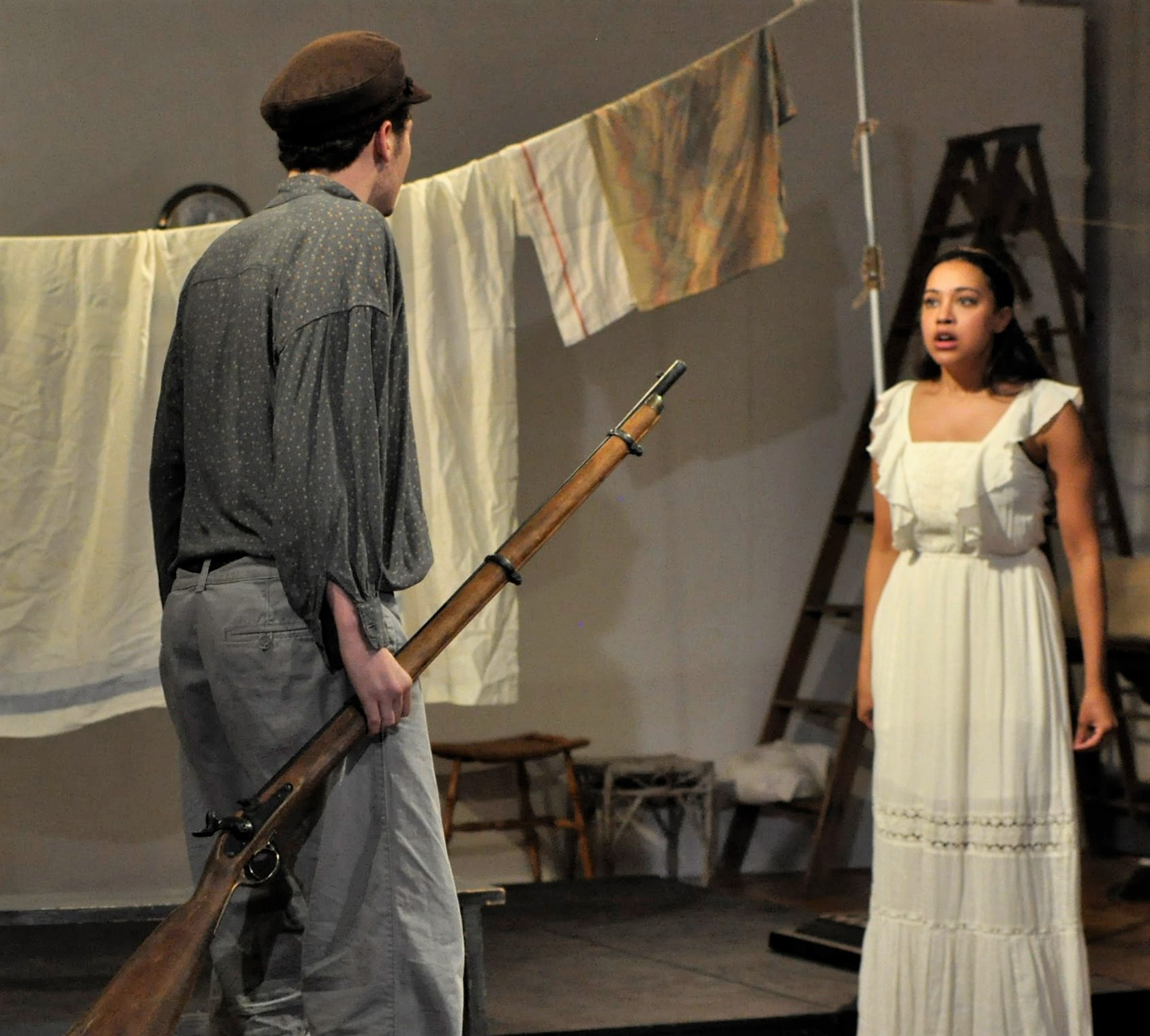 Dilone as Nina with Taylor Petracek as Konstantin.