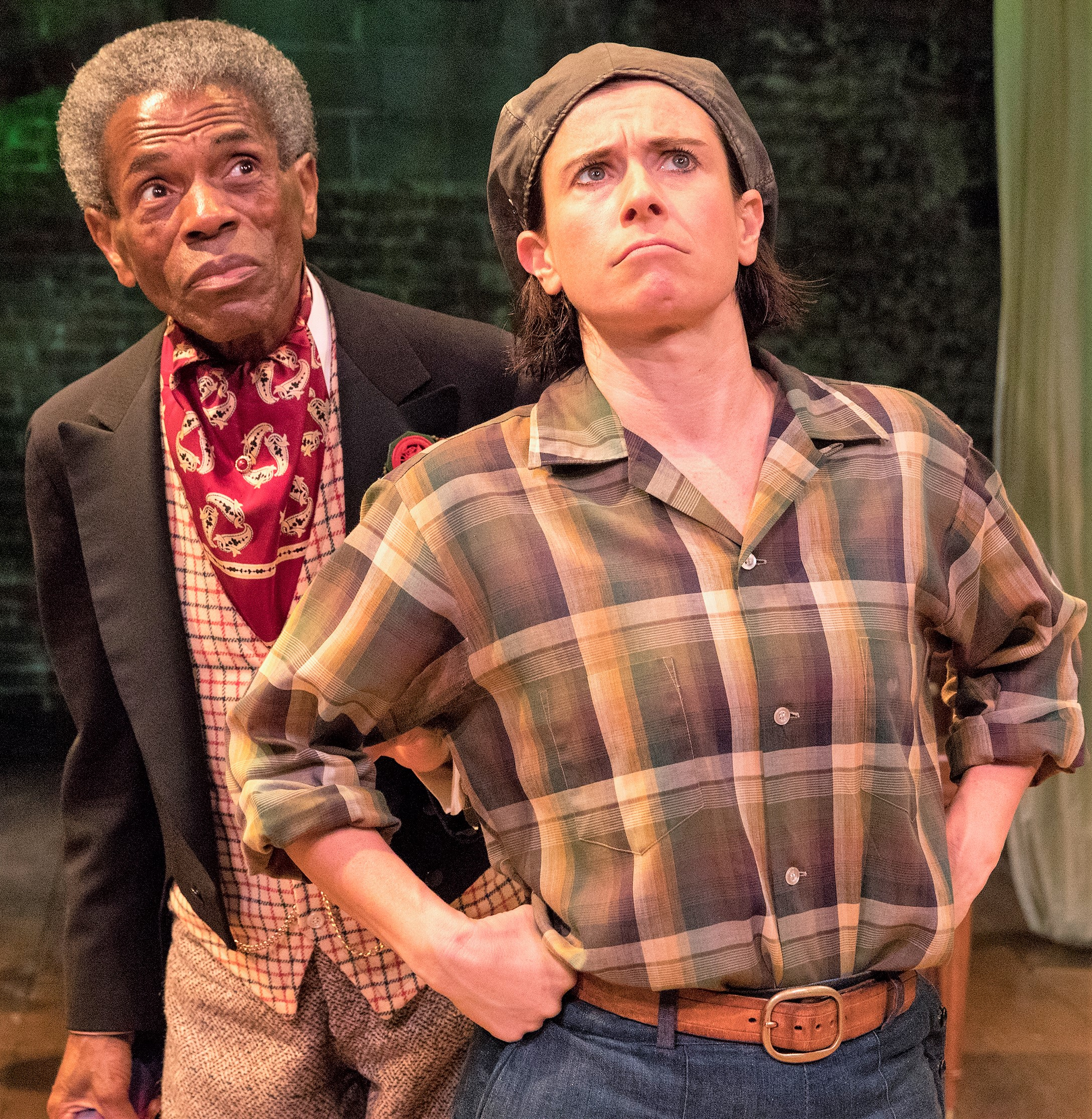 André De Shields as Touchstone with Cabell. Photographs by Richard Termine.