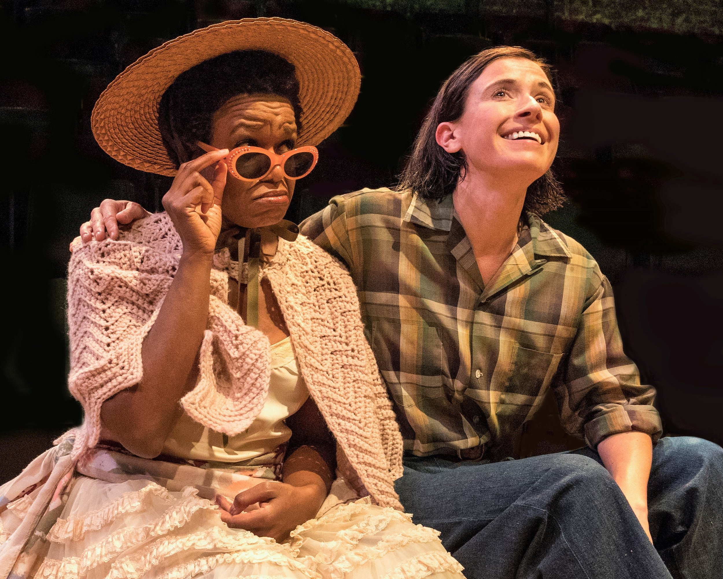 Cabell (right) with Quincy Tyler Bernstine as her cousin, Celia.