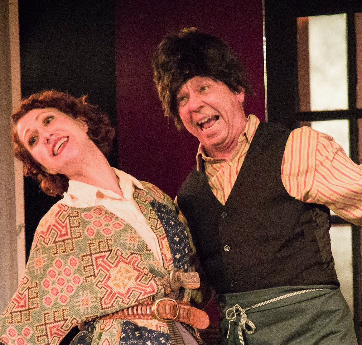 Cait Kiley (left) and Charles Baran play a comical pair of innkeepers. Photo by Danny Bristoll.