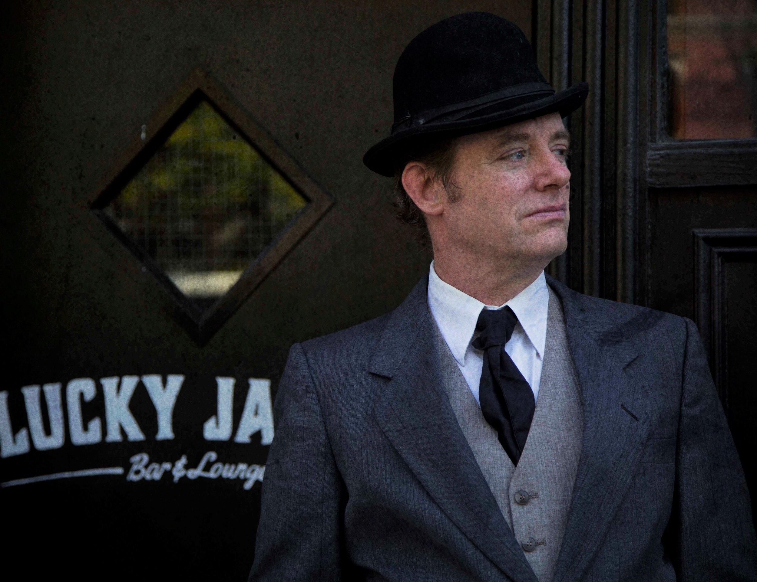 Top: Tom Staggs as the prosecutor. Photos by Natalia Yandyganova