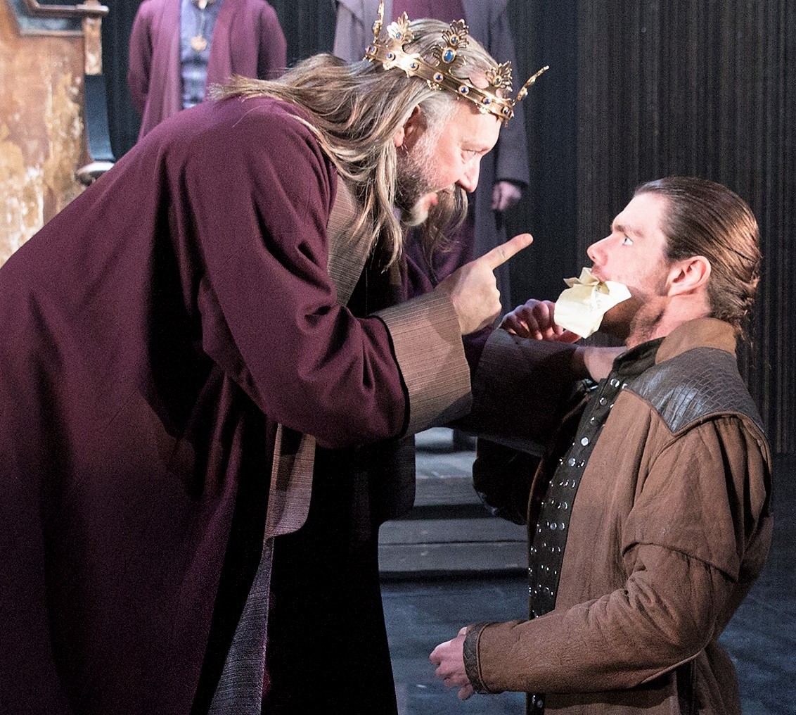 Needham (right) with Jasper Britton as King Henry IV. Photographs by Richard Termine.