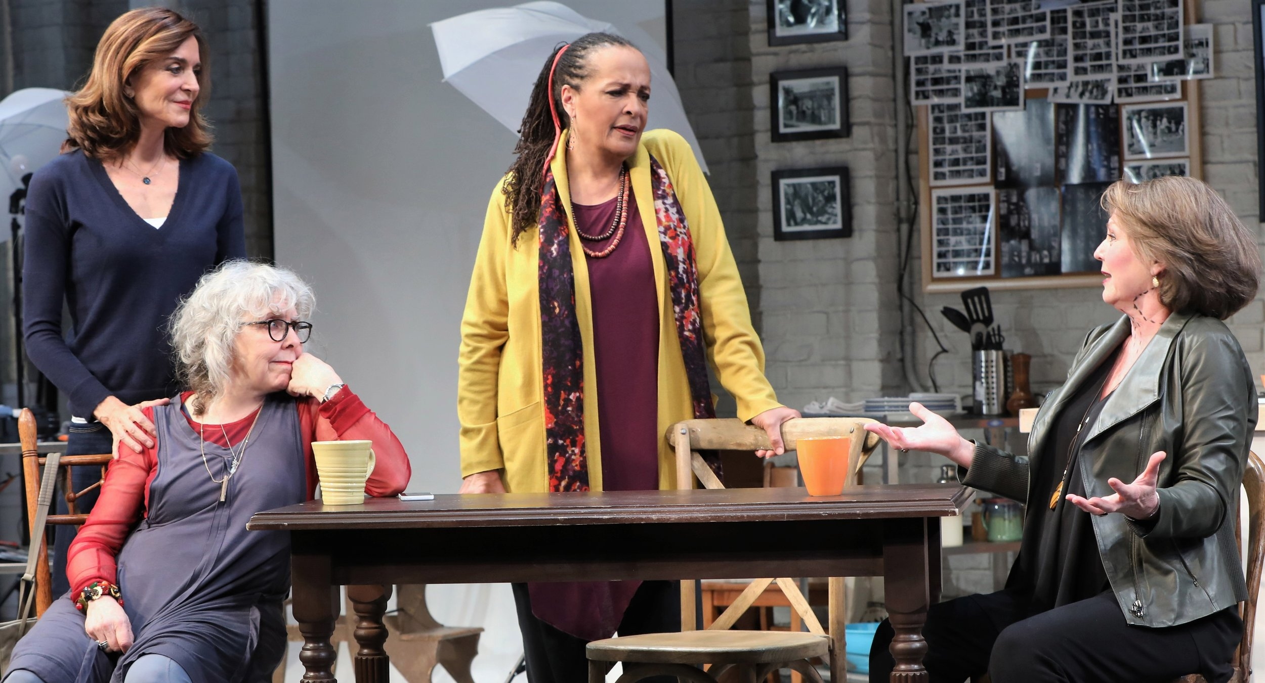 The cast of Susan Miller's 20th Century Blues: Polly Draper as Danny, Kathryn Grody as Gabby, Franchelle Stewart Dorn as Mac, and Ellen Parker as Sil