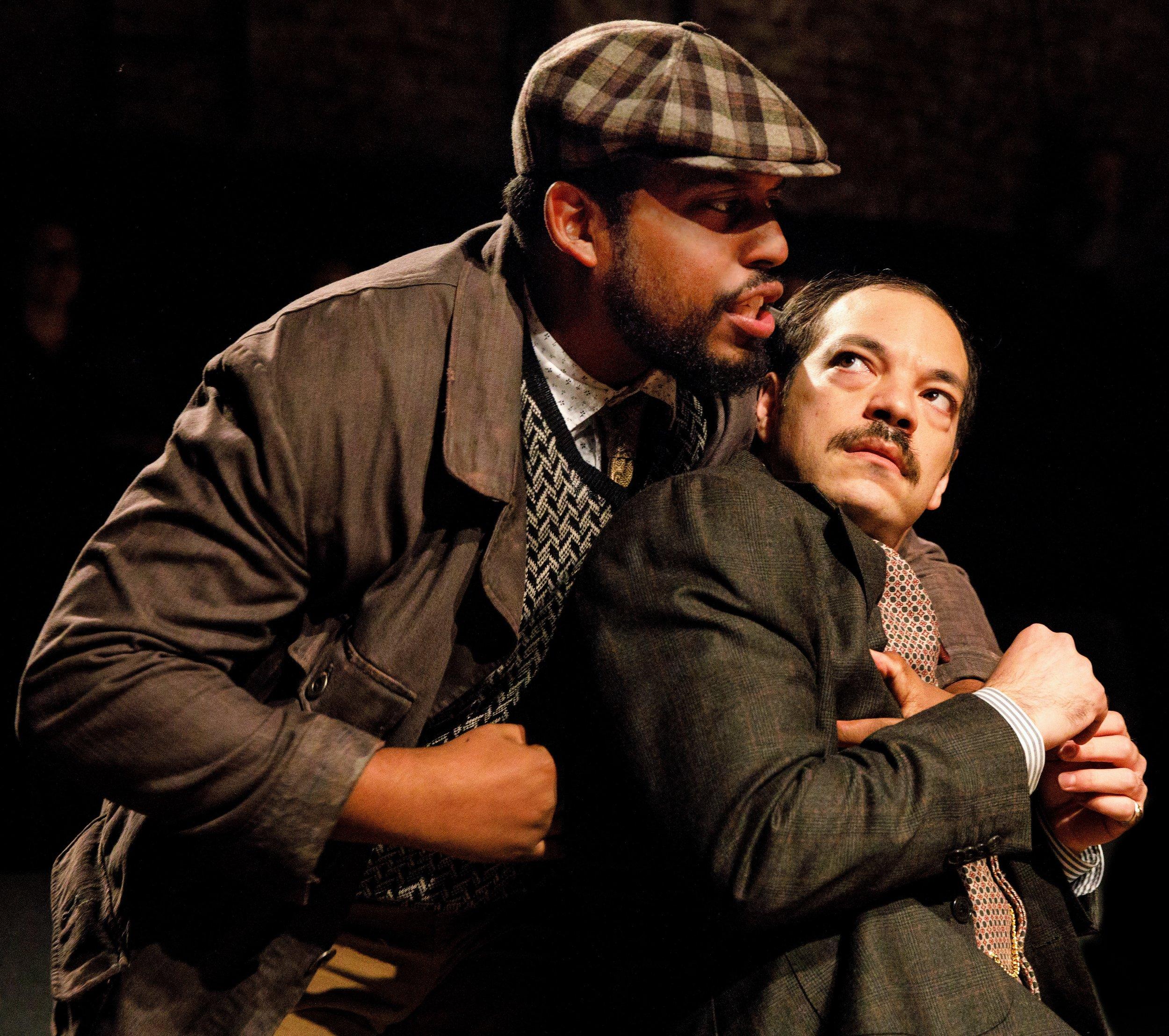 Tolson with David Samuel as Fabian. Photographs by Joan Marcus.