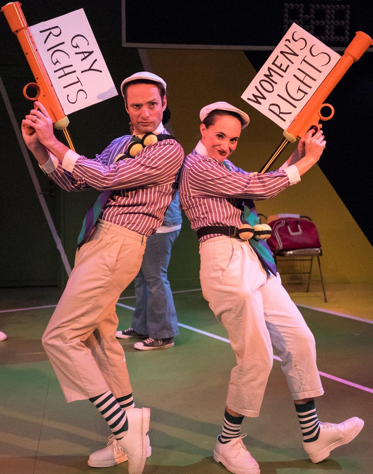Richard Saudek as Clownboy and Olivia McGiff as Clowngirl. Photographs by Russ Rowland.