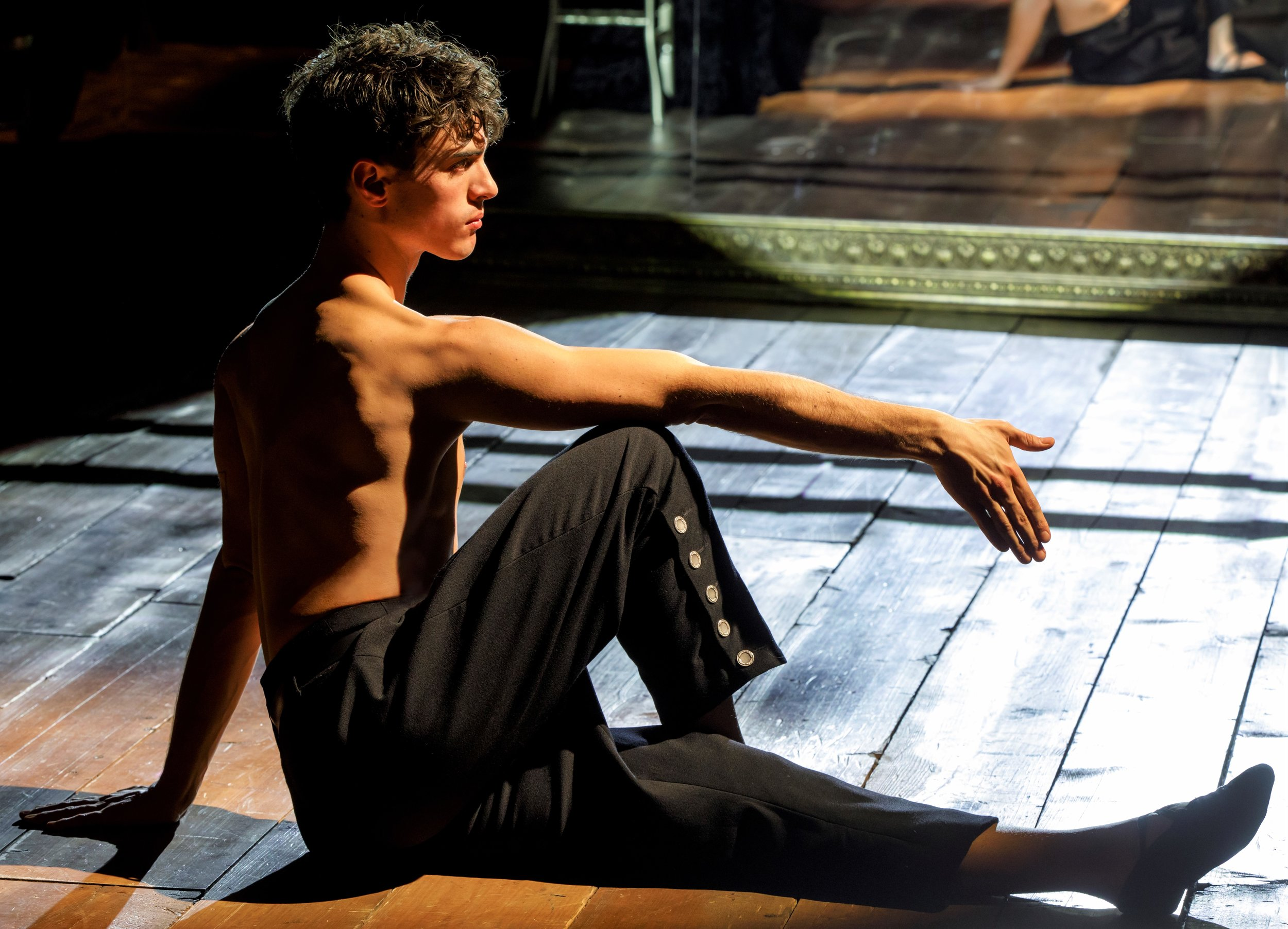 Cusati-Moyer, in an afternoon-of-a-faun repose. Photographs by Joan Marcus