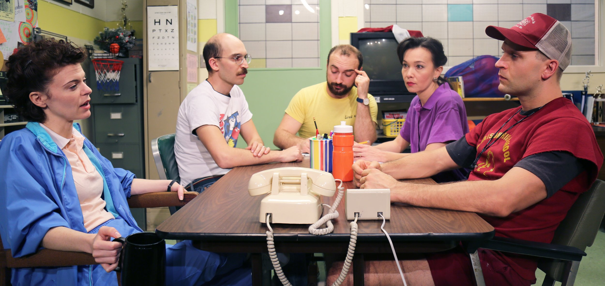 From left: Stephanie Wright Thompson as Sandra, Bovino, Michael Dalto as David, Yen and Curnutte. Photographs by The Mad Ones.