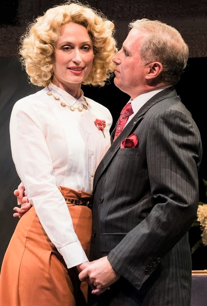 Muriel (Victoria Mack) receives unwanted attention from Heine (John Plumpis) in TACT's final show,  Three Wise Guys . Top, from left: Blondy (Karl Kenzler), Charlie (Ron McClary) and Dan (Jeffrey C. Hawkins) defy Prohibition.