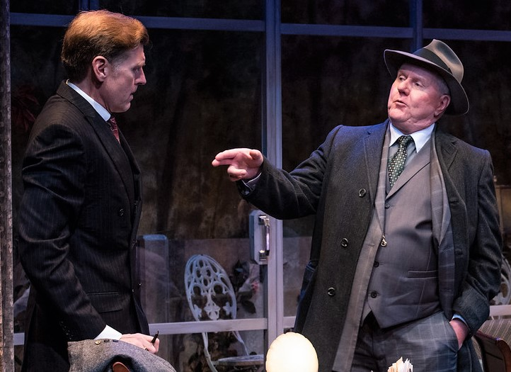 Deasy (left) with Dan Daily as the union-busting thug Sam Wilkie in Hellman's melodrama.