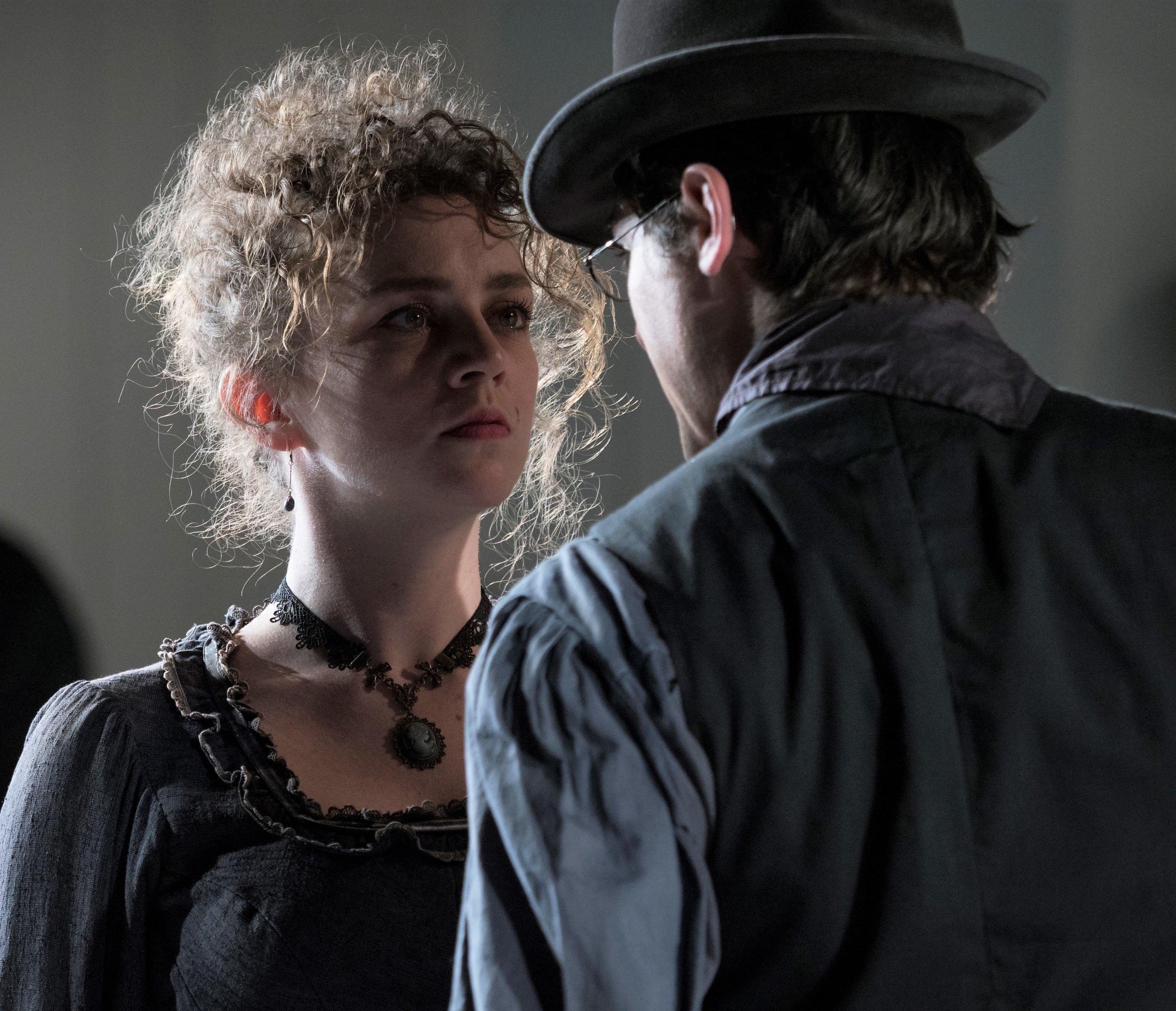 Britt Genelin (left) as Helen Ramirez and McCormick. Photographs by Pavel Antonov.