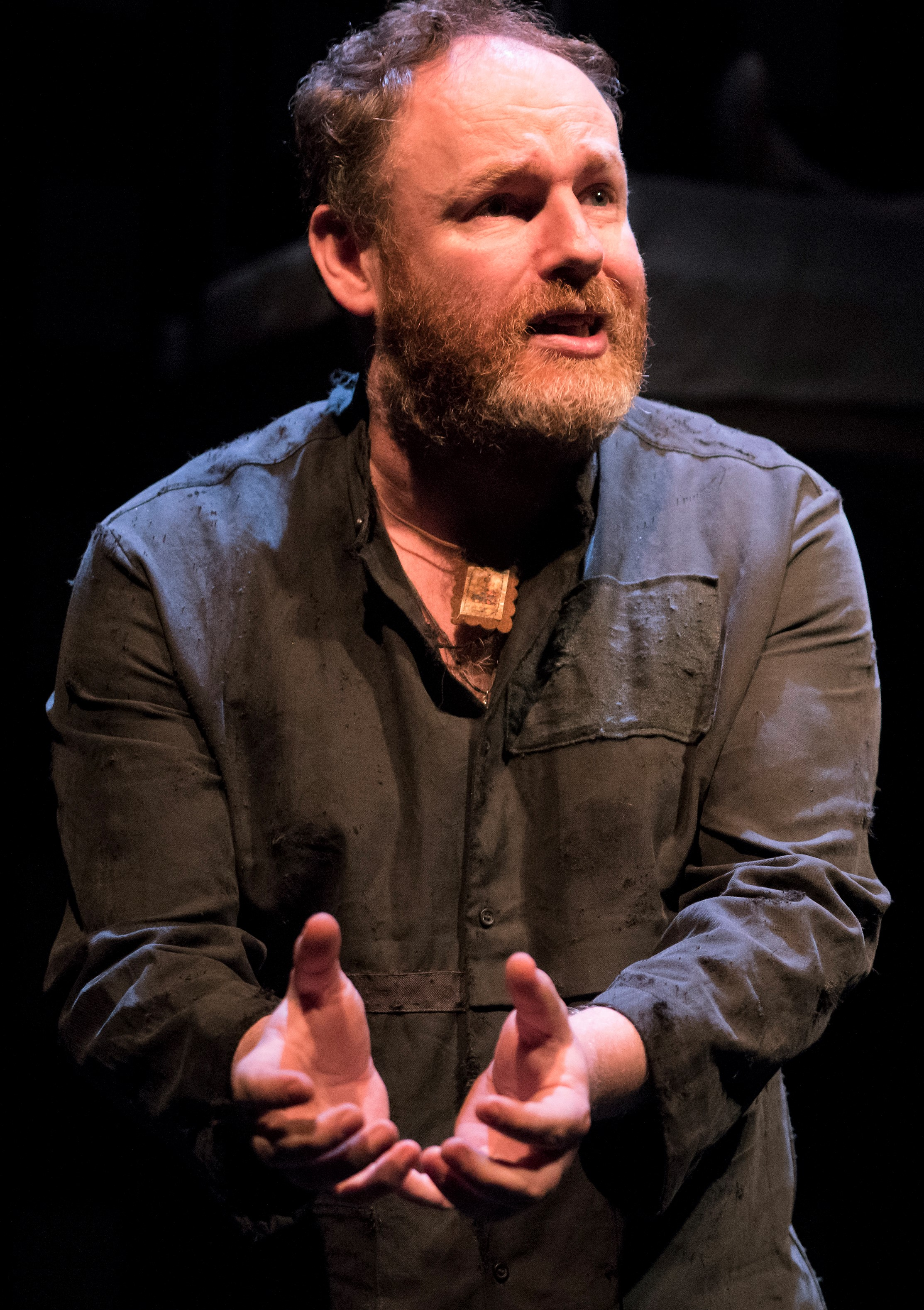 Ganly as the anguished PJ. Photographs by Patrick Redmond.
