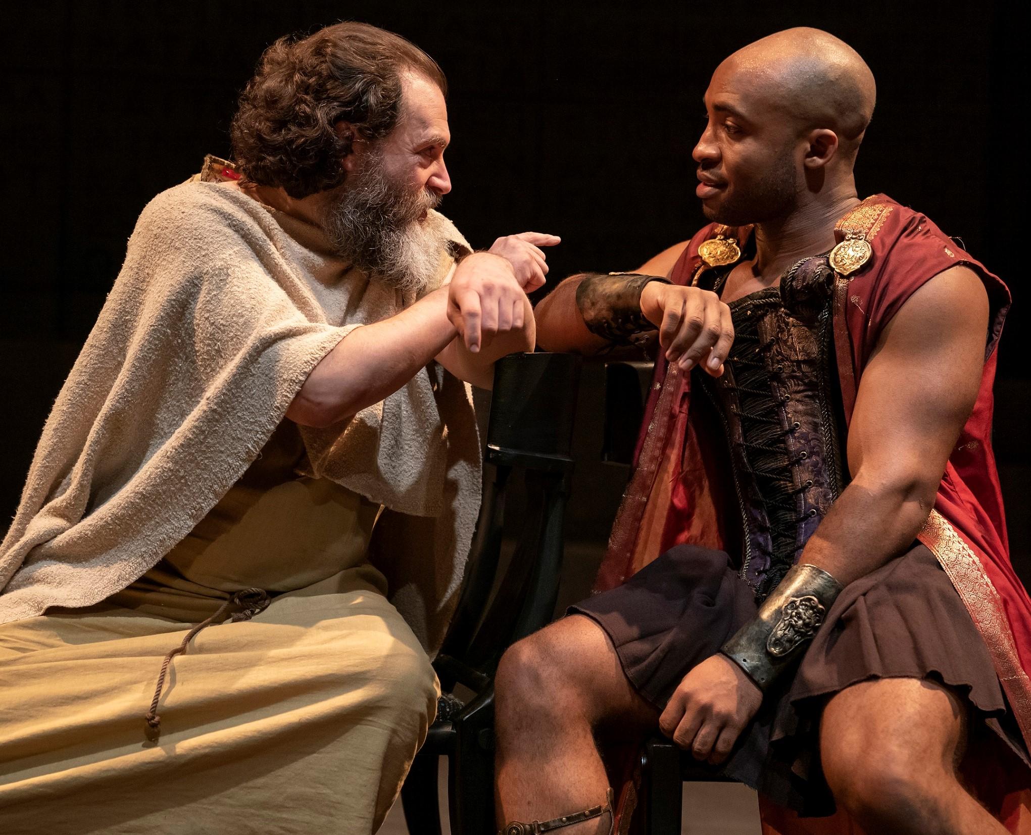 Stuhlbarg with Austin Smith as Alcibiades. Photographs by Joan Marcus.