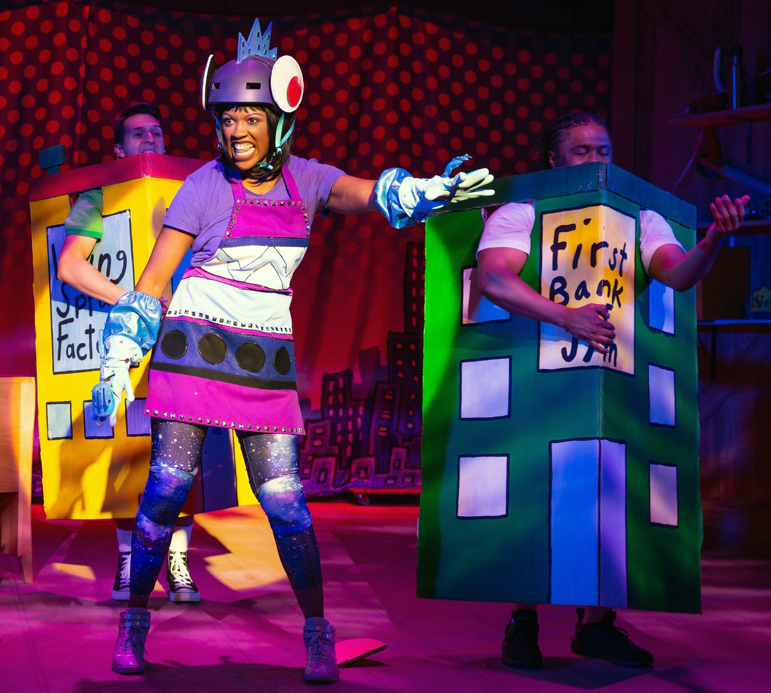 Crystal Sha'nae plays the bionic evildoer Flippy.