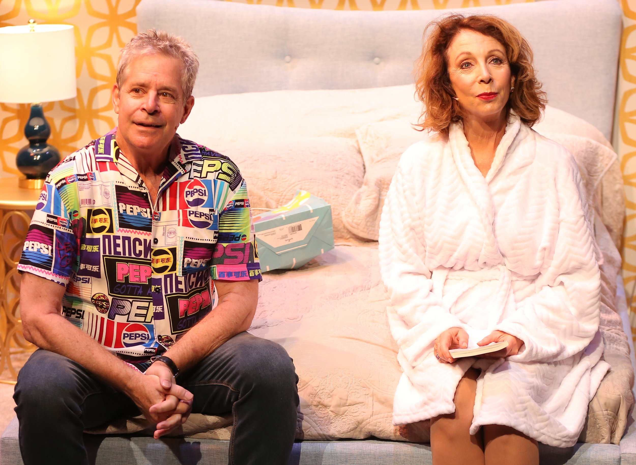 Tom (Robert Yacko) and Wendy (Rita Rudner) contemplate The Deed.