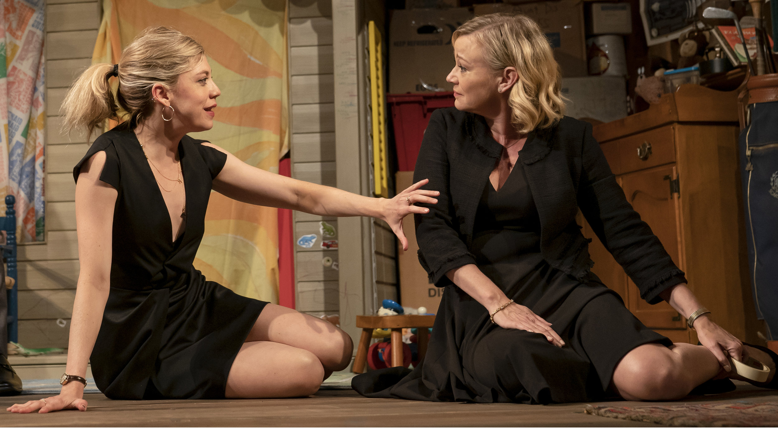 Susannah Flood as Addie and Samantha Mathis as Kate face a crisis of middle age in the second half of  Make Believe . Photographs by Joan Marcus.