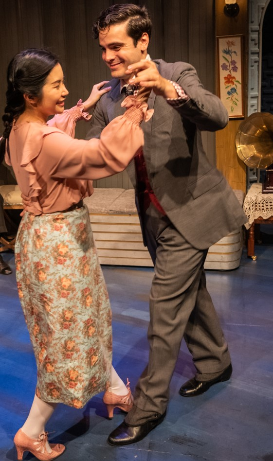 Maisie (Leanne Cabrera) and Chip (Ryan Avalos) cut a rug in 1919. Photographs by Russ Rowland.