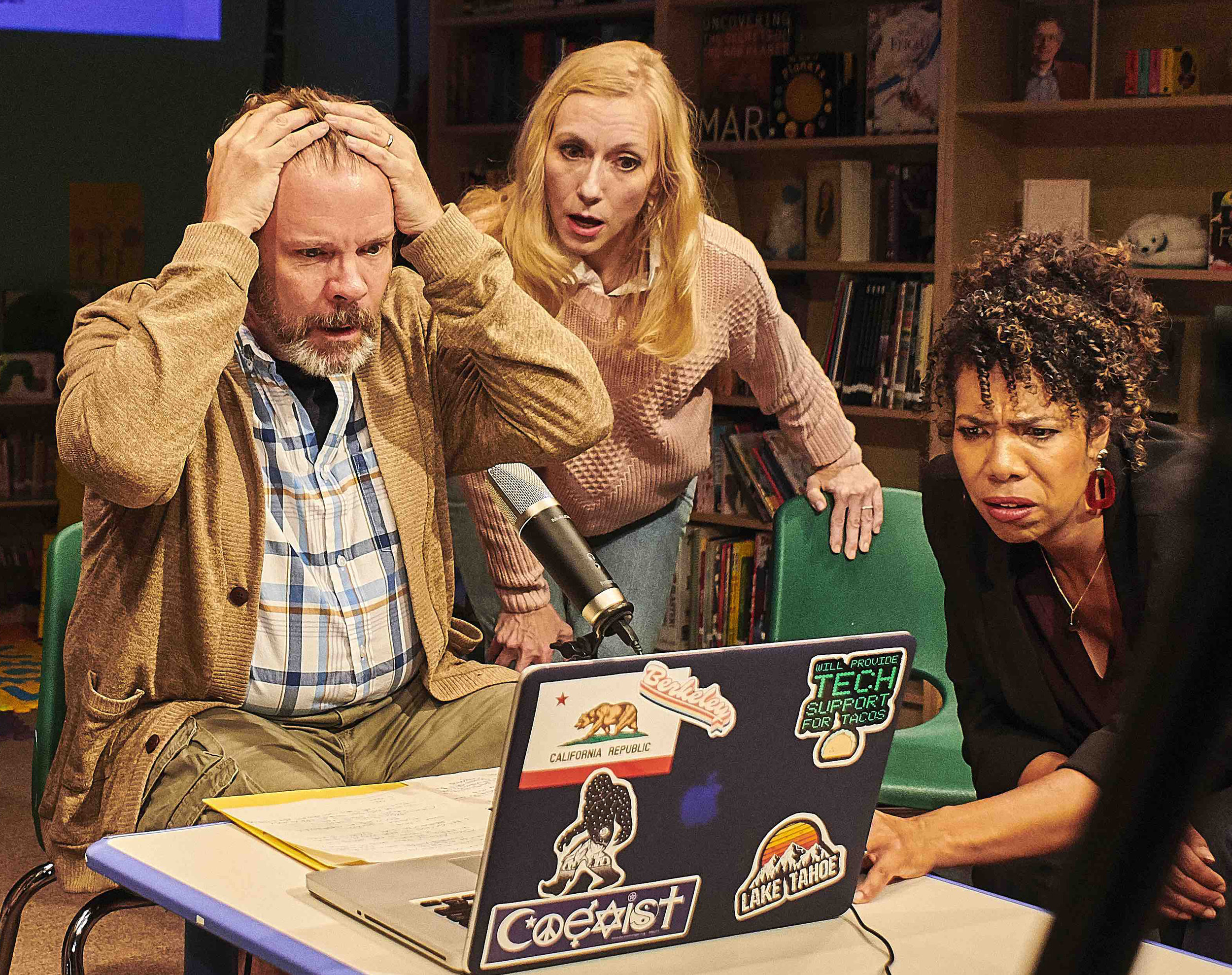 Don, Suzanne and Carina are aghast as the online conversation turns acrimonious.