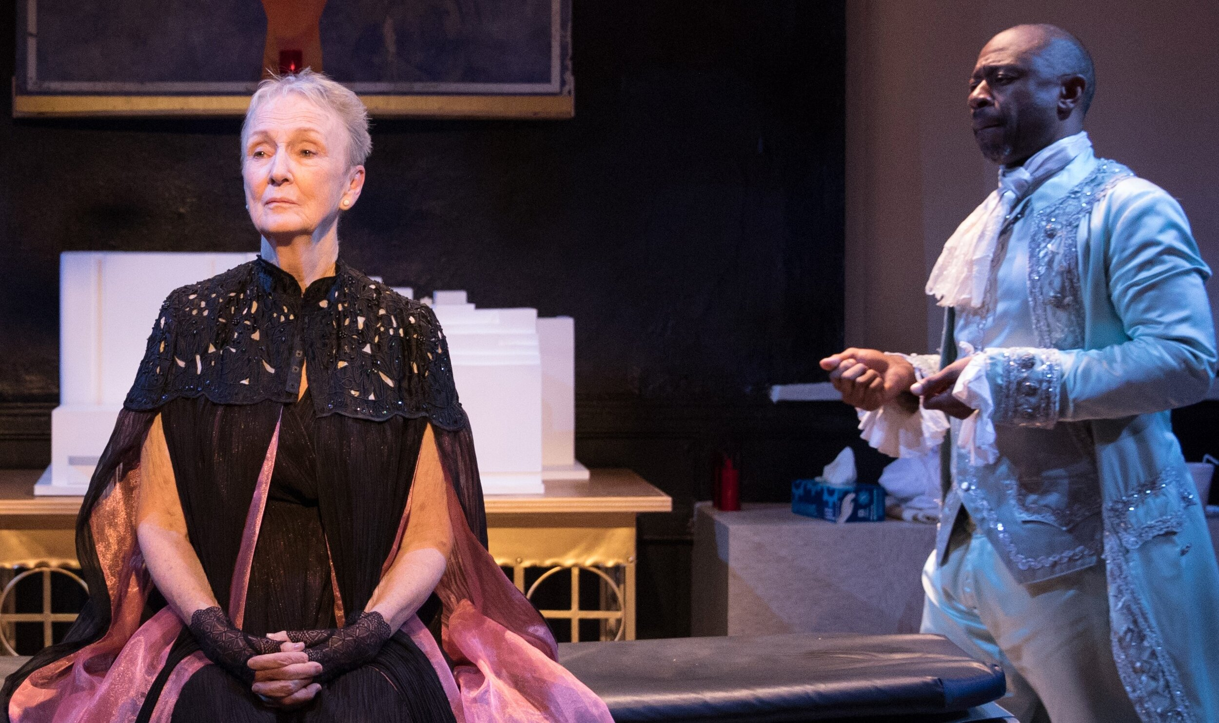 Elizabeth Ann Seton (Kathleen Chalfant) and Pierre Toussaint (Alvin Keith), a former slave who became one of New York's most important philanthropists, are the central characters in  Novenas for a Lost Hospital.