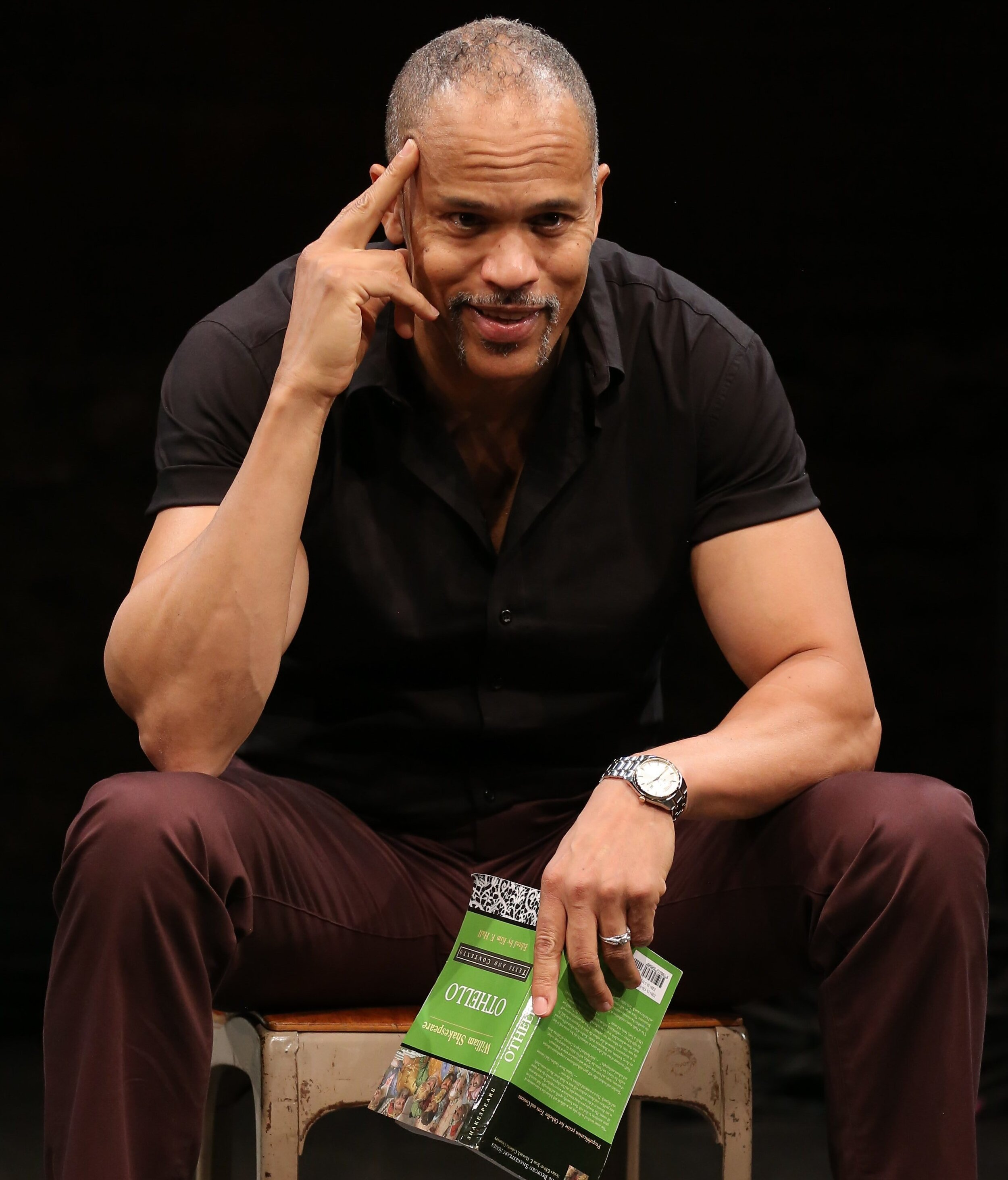 Keith Hamilton Cobb wrote and stars in the play  American Moor,  about a black actor's relationship with Shakespeare, and especially the character of Othello.