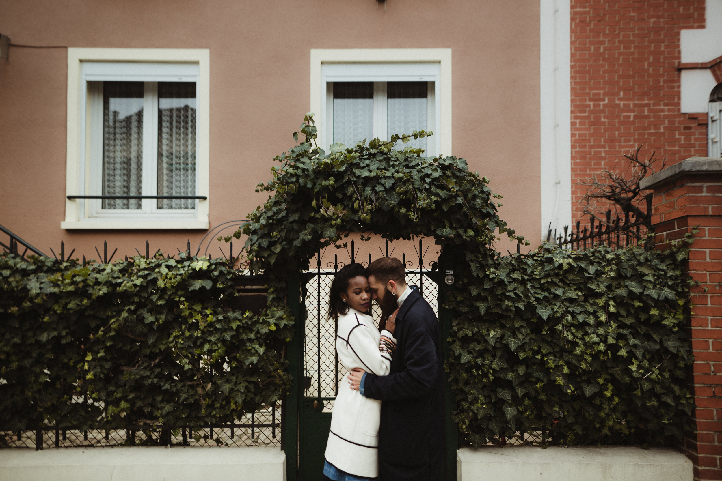 biracial couple in paris france
