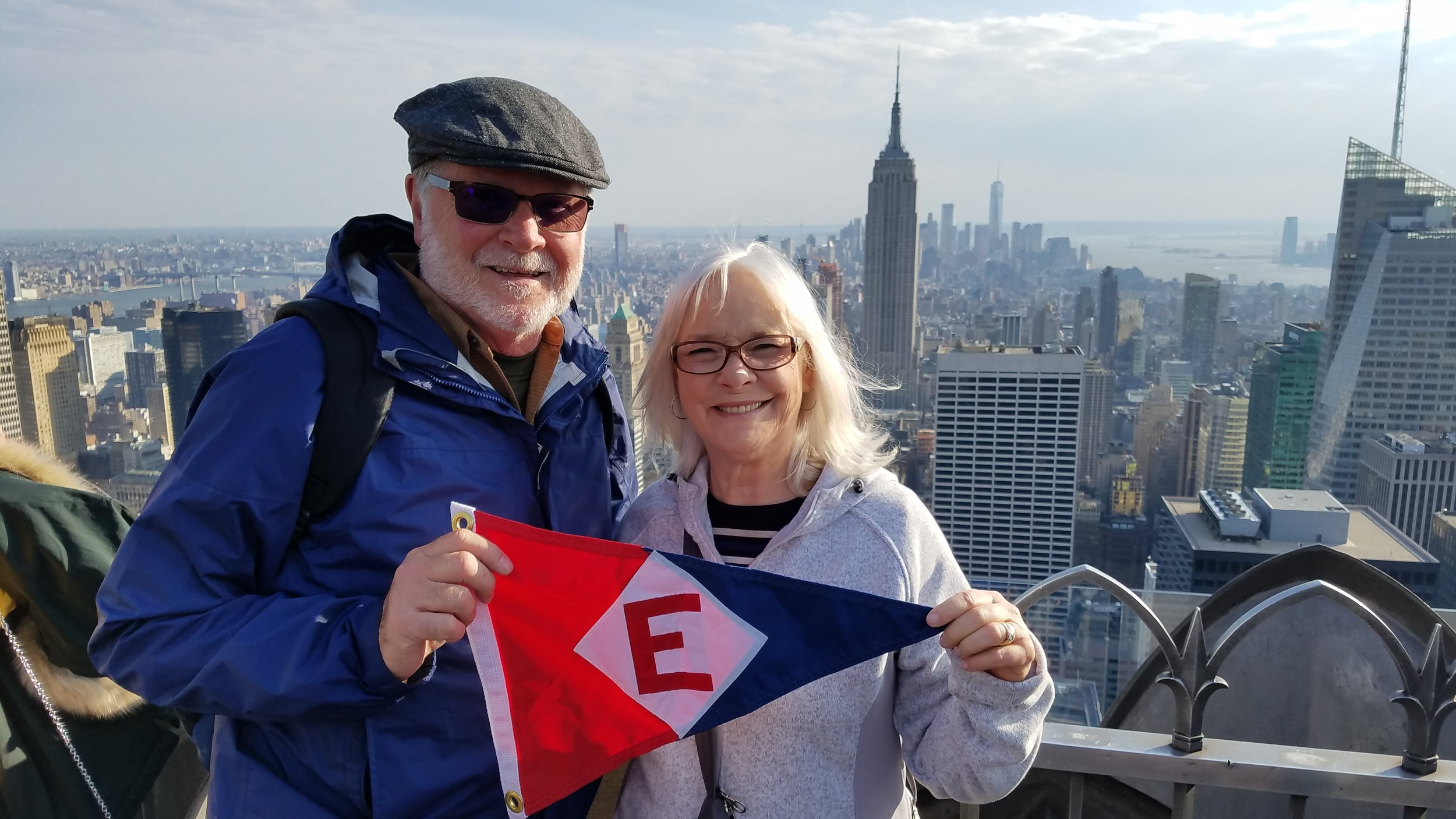 Atop the Rockefeller Center in New York City with Murray and Linda McLeod.