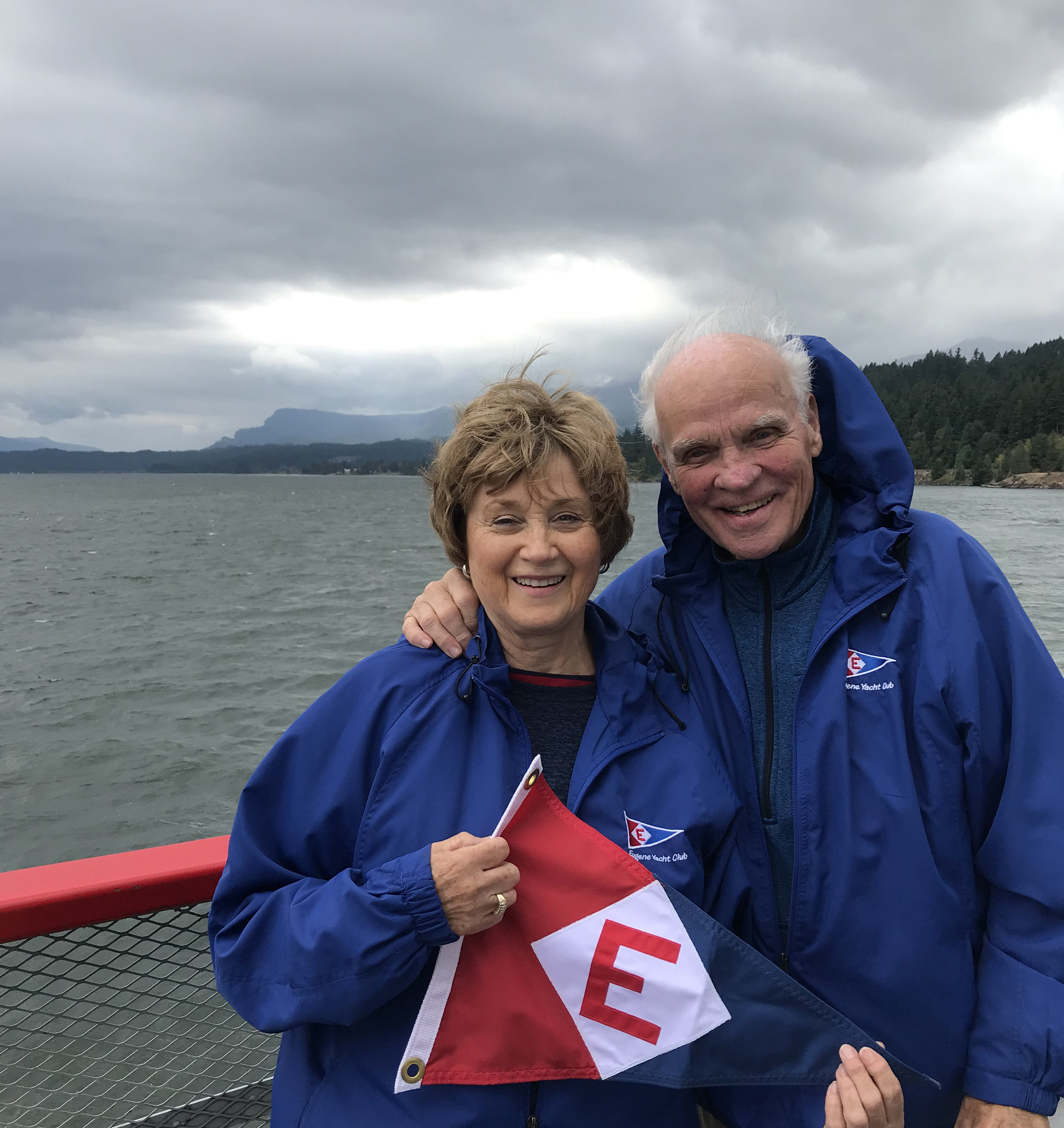 Anne and Sterling Ellsworth at Cascade Locks, OR