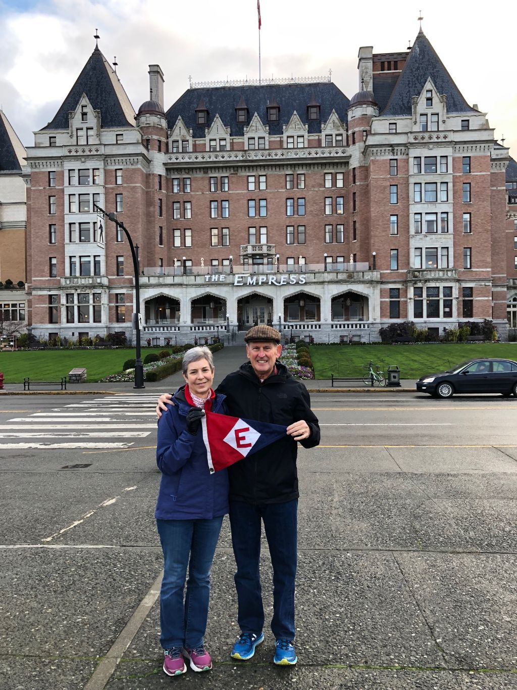Gary & Jane Powell in front of the Empress Hotel in Victoria, BC