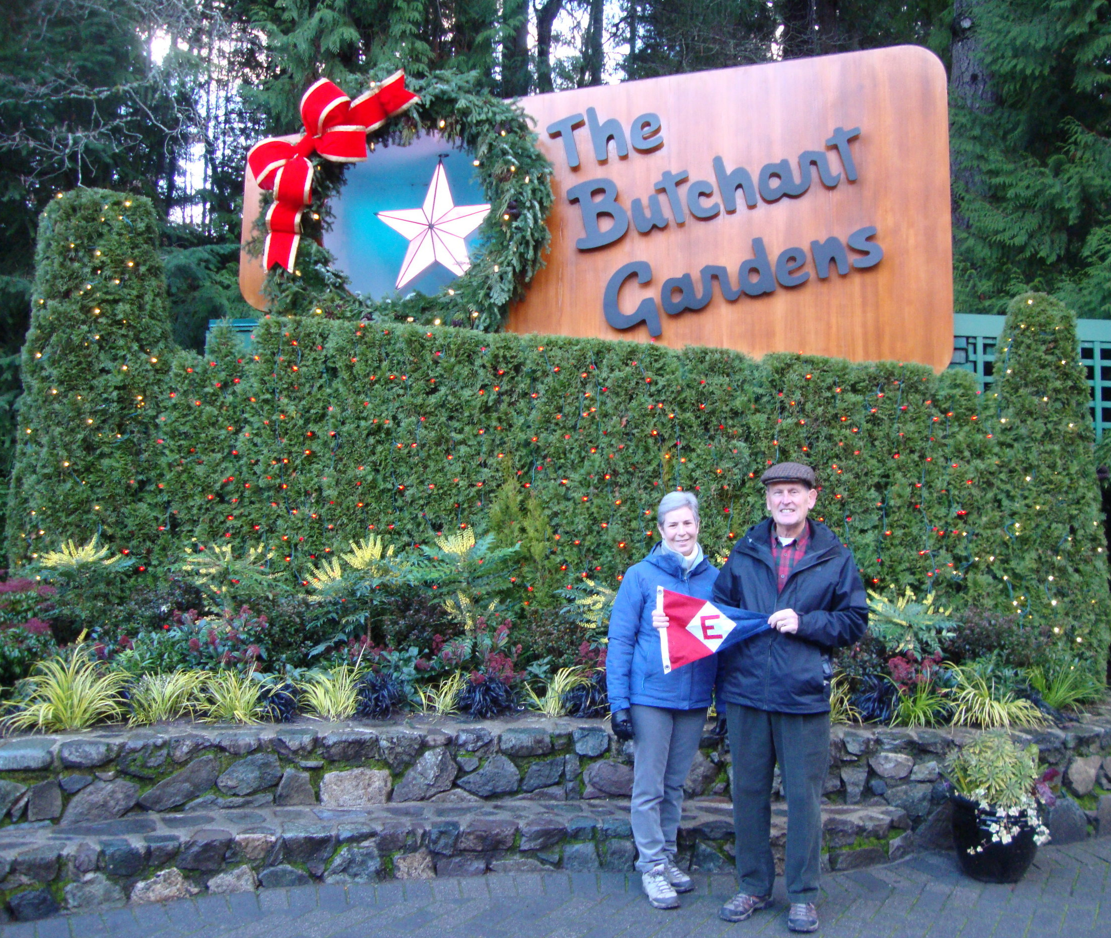Jane & Gary Powell at Butchart Gardens in Victoria, BC