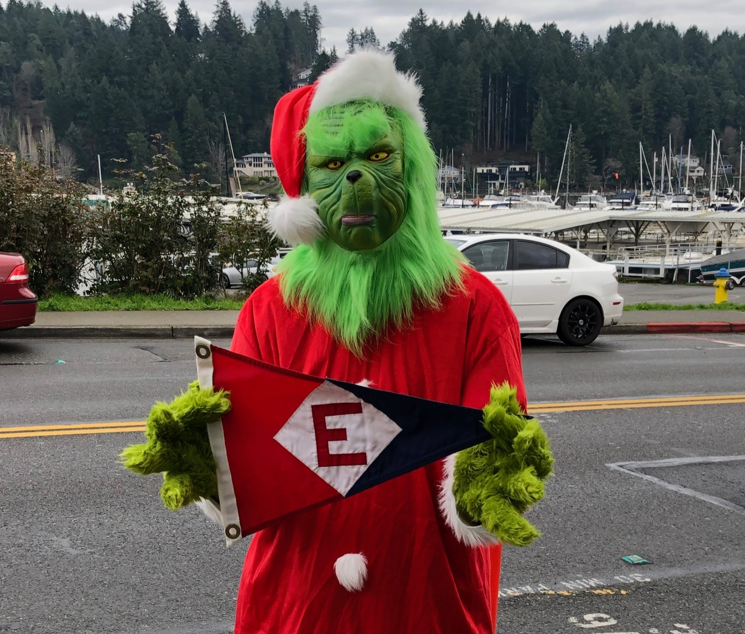 He might not have Christmas spirit, but the Grinch does have EYC spirit!