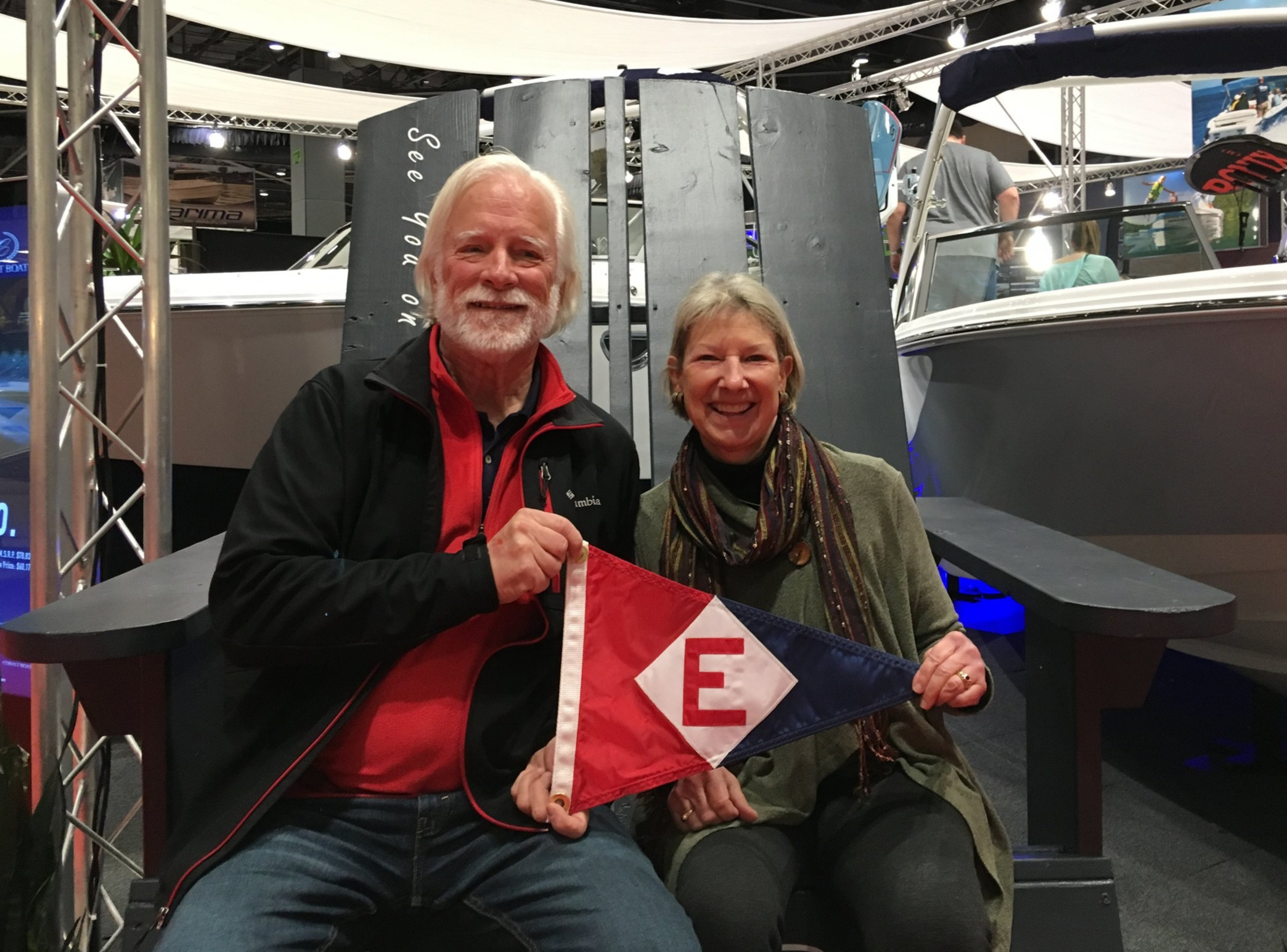 Ken & Chris Emmes at the Seattle Boat Show