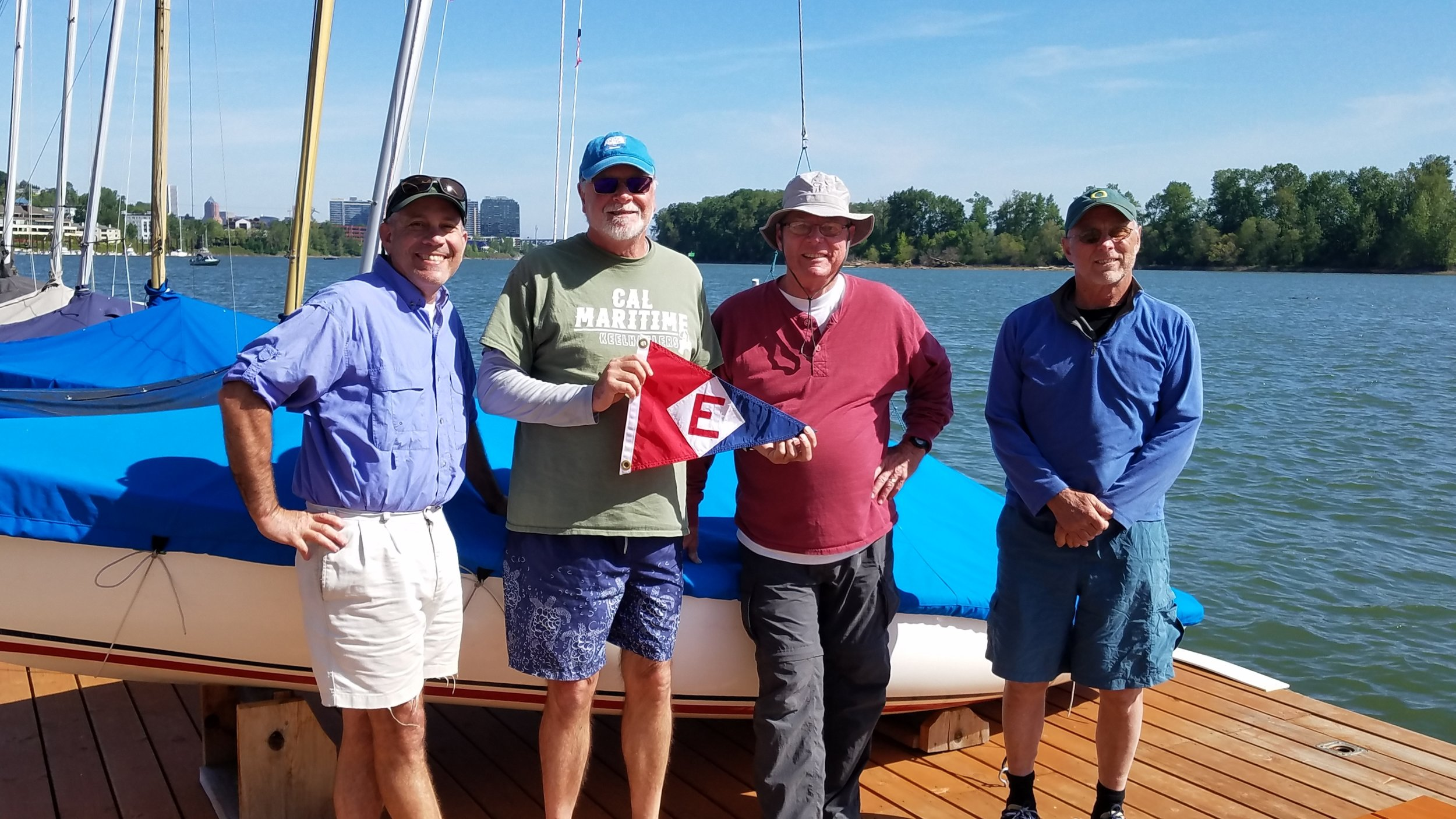 Al Avey, Murray McLeod, Allan Stults and brother Jim brought EYC pride to the Turtle Regatta at Willamette Sailing Club in Portland, OR