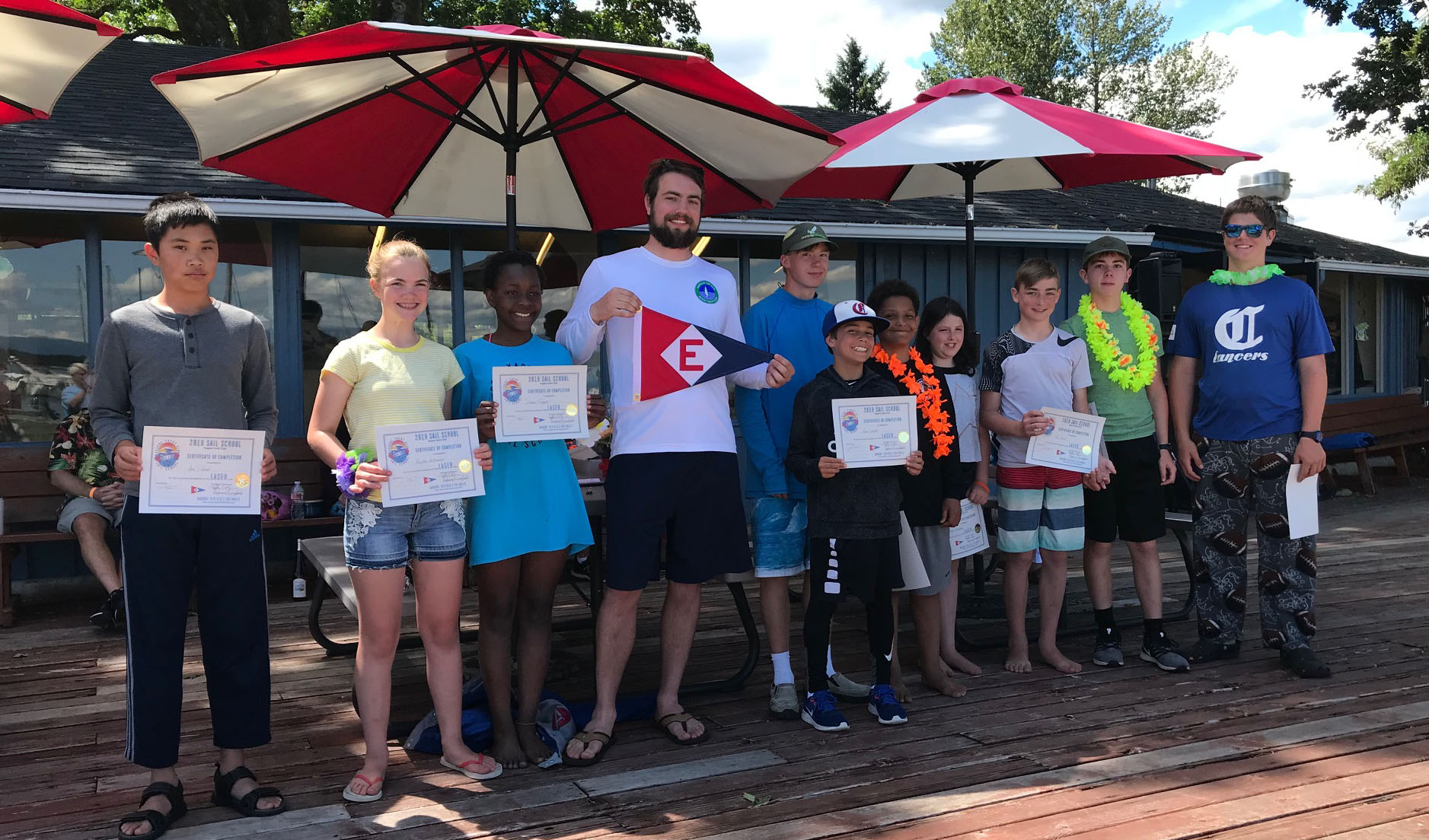 The Laser class of 2019 EYC Sail School