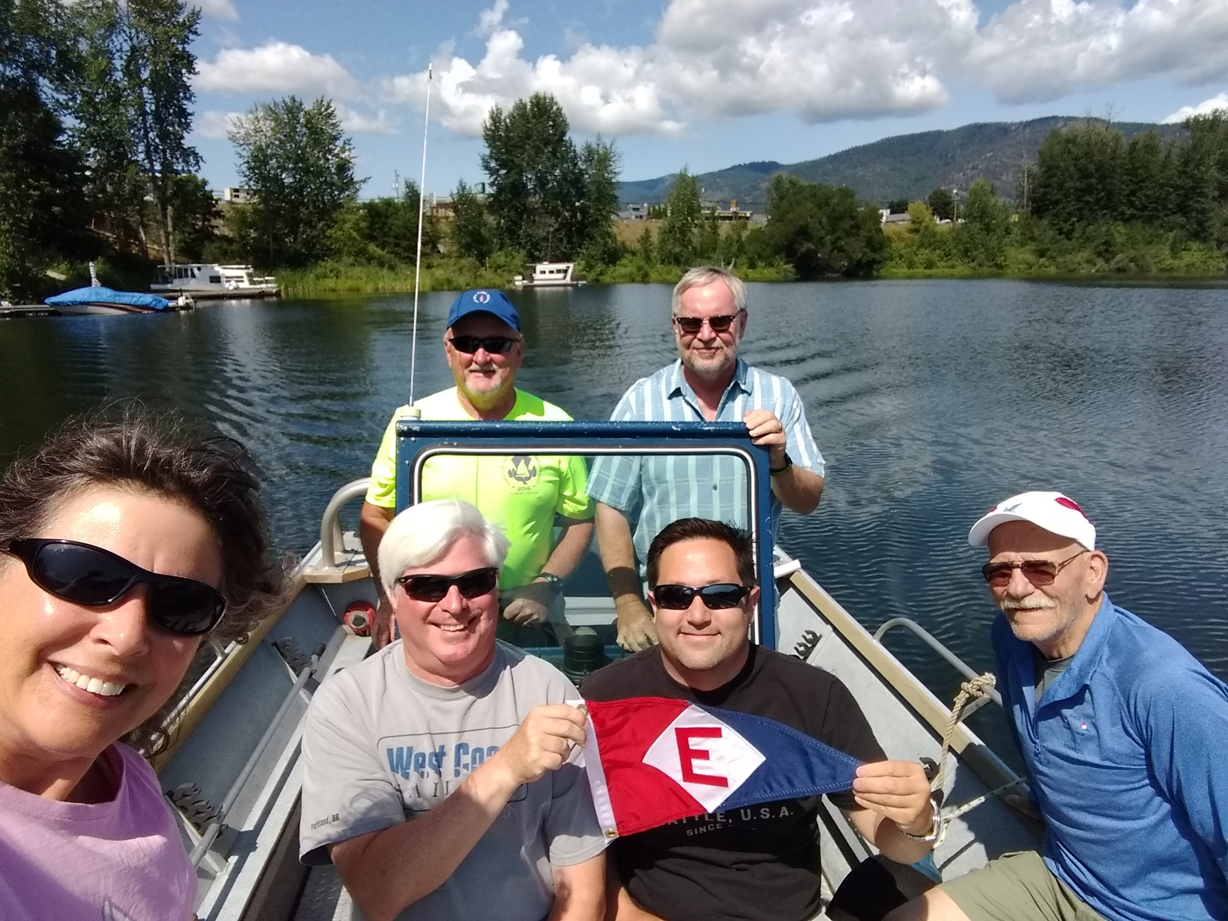 Members of EYC's Race Committee showed their colors at 2019 Thistle Nationals in Sandpoint, Idaho
