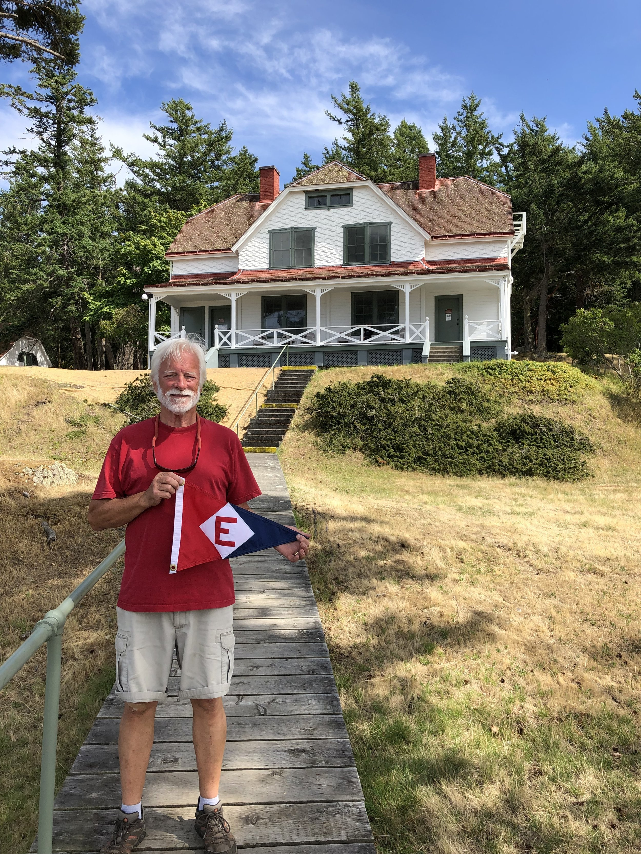 Ken Emmes at Turn Point Lighthouse' the most northwestern point of the continental United States